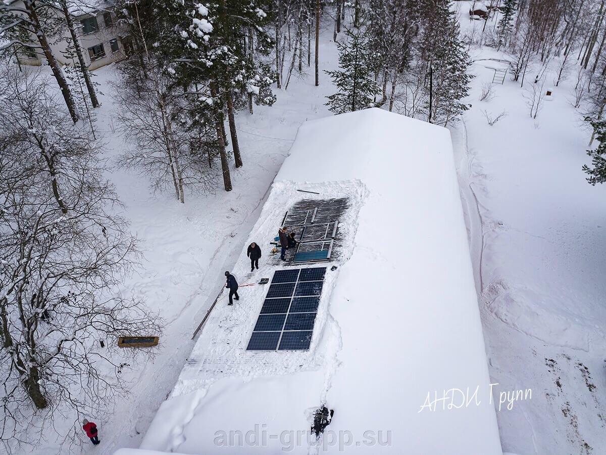 Установка солнечного коллектора
