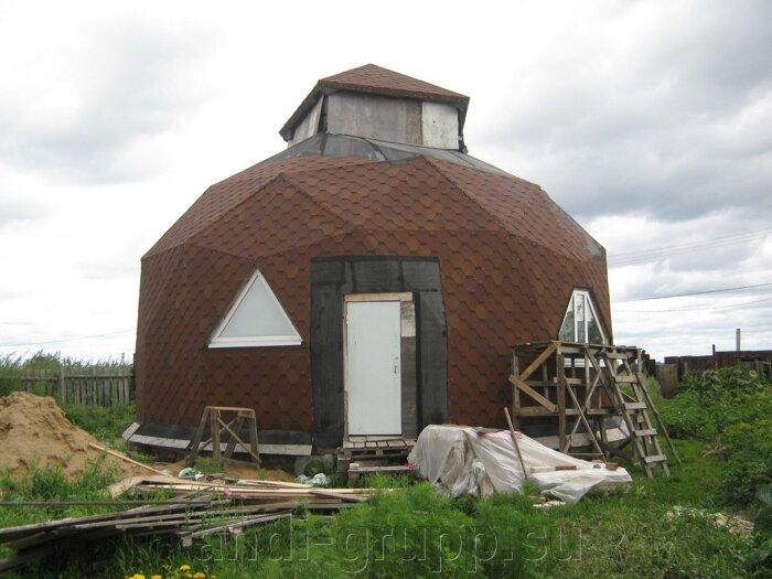 Солнечный коллектор в Курганской области. Геокупольный дом. - фото Геокупольный дом