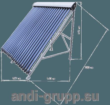 SH-600-72-Sigma-R2 солнечная сплит-система - фото солнечный коллектор SCH-24