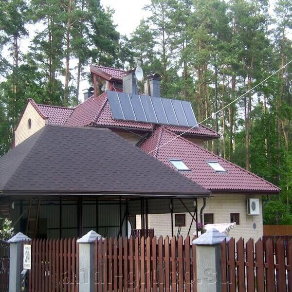 солнечный коллектор для коттеджа