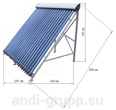 Размеры солнечного коллектора SCH-30