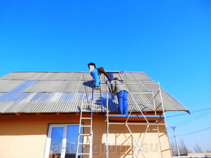 Солнечный коллектор в Калуге. - фото Ход монтажа.