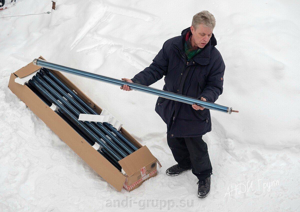 установка солнечного коллектора в Карелии