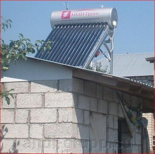 Дача-Эконом  XF-II-10-80  бак 80л  Солнечный водонагреватель без контроллера - фото солнечный водонагреватель
