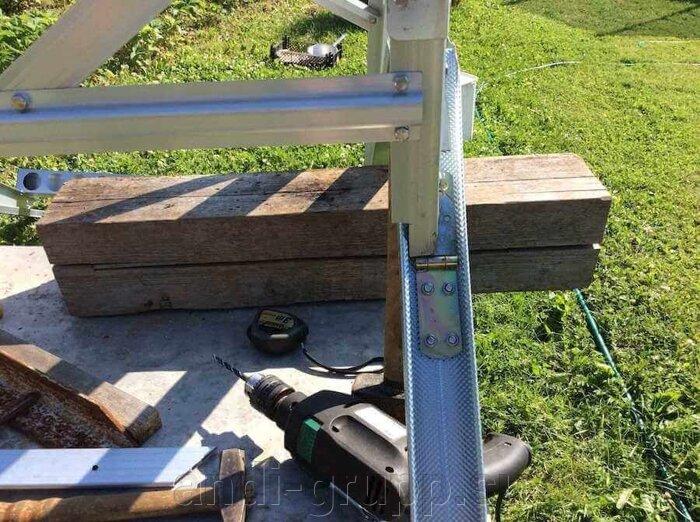 Устройство рамы солнечного коллектора для слива воды