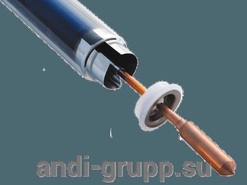 Коаксиальная вакуумная трубка с тепловым каналом