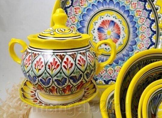 купить узбекскую посуду из фарфора