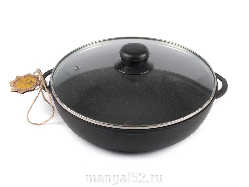 купить чугунную сковороду с крышкой
