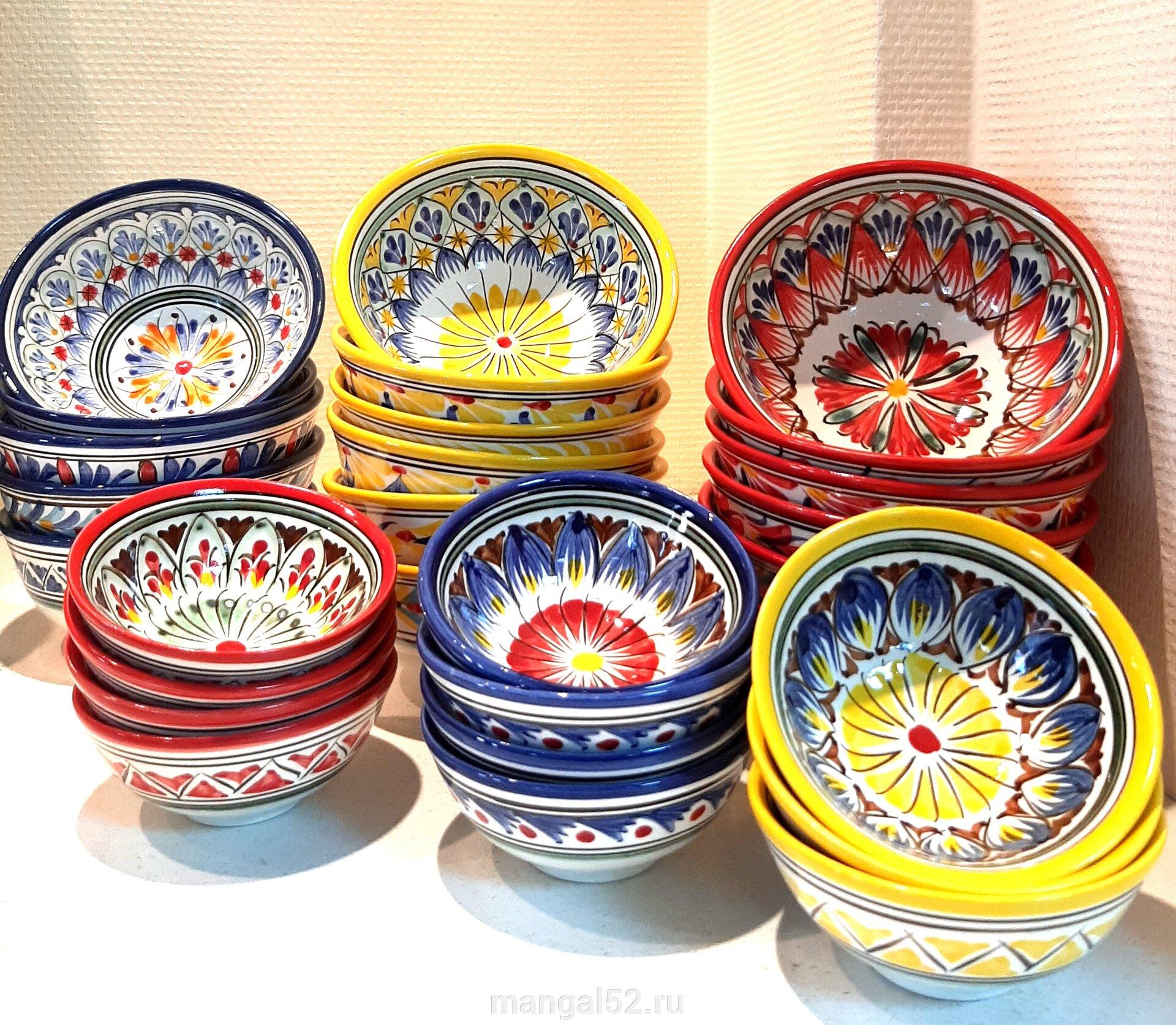 купить узбекскую посуду: пиалы и косы