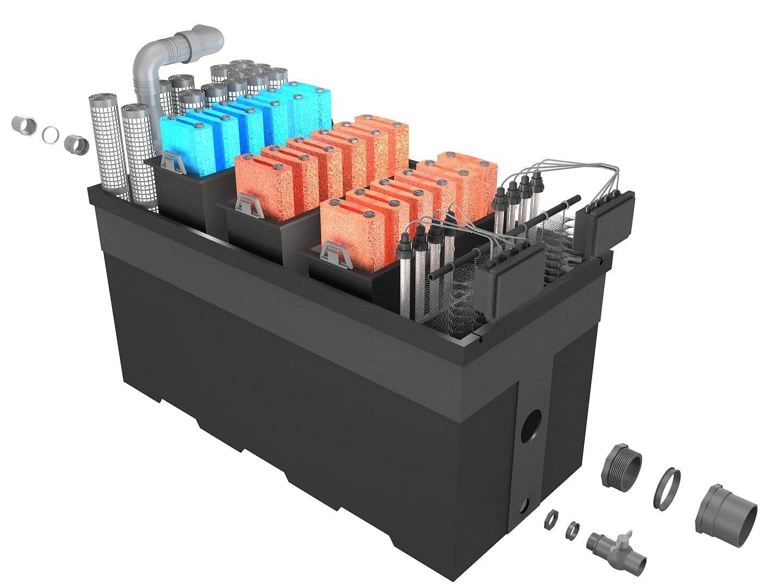 Схема устройства фильтра для пруда Pondtech BIO160