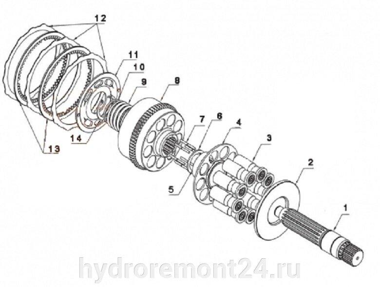 Ремонт гидронасоса  Kawasaki M2X170 - фото pic_2ec4484fe0a1b6533d4cb5a80b486698_1920x9000_1.jpg