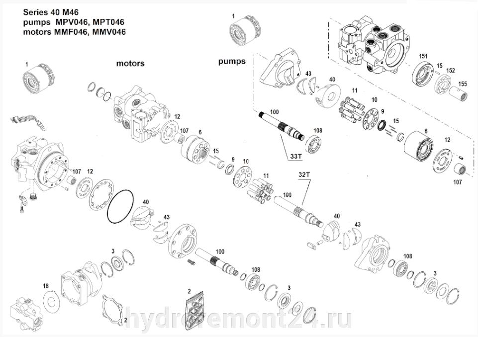 Ремонт гидронасоса Sauer Danfoss MMF046 MMV046 - фото pic_f147f8df09260ee856cf7717d1f21d5f_1920x9000_1.png