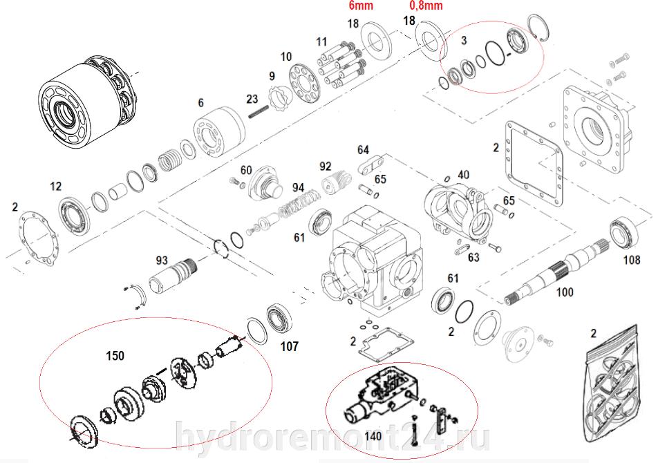 Ремонт гидронасоса Sauer Danfoss PV24 SPV2/119 SMF2/119 - фото pic_83fd15b799c7e21acb28708430ad903b_1920x9000_1.png