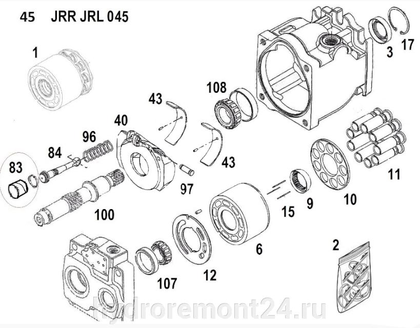 Ремонт гидронасоса Sauer Danfoss GRR074 GRL074 - фото pic_8ede67e68479ac6a87d0f2944cf51b23_1920x9000_1.png