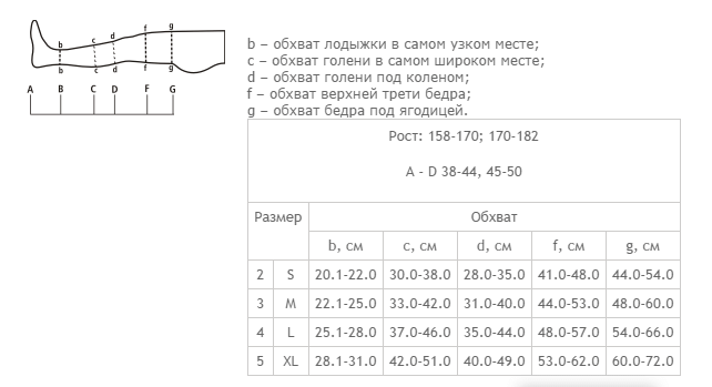 Чулки компрессионные 2-го класса компрессии, без мыска на рост 158-170 см Tonus Elast 0403 LUX - фото pic_90efb94fbb3dcb7_700x3000_1.png