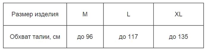 Бандаж послеоперационный трехпанельный ОРТО БП-111 (высота 21 см) - фото 1