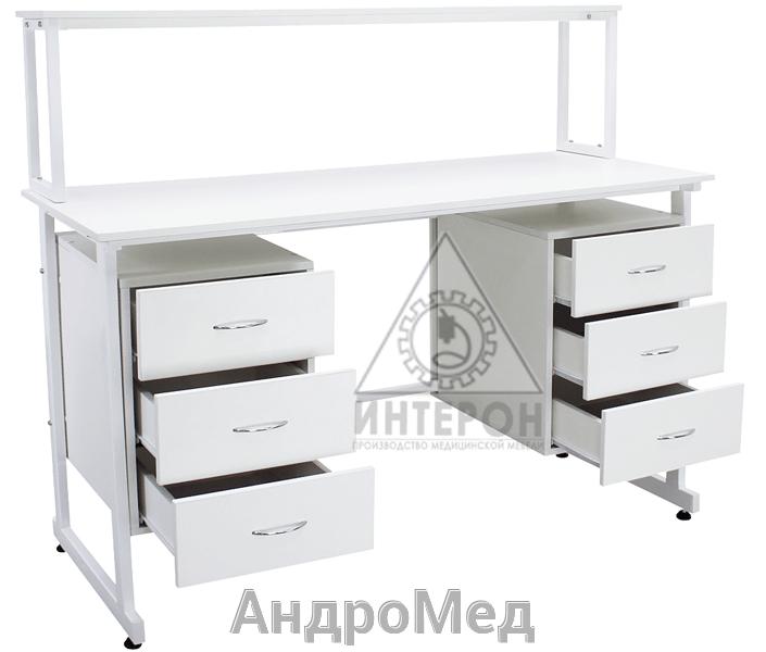 Стол медицинский лабораторный Слаб-Н-137/750