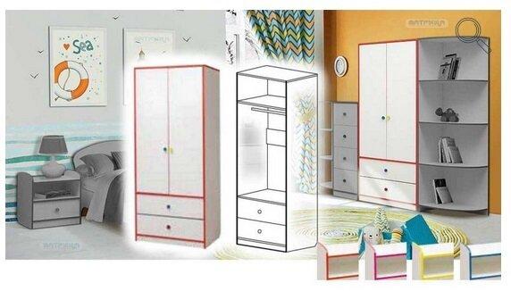 """Набор модульной мебели для детской комнаты """"Юниор-10"""" с кроватью - фото pic_9280d912147f5732350ed52c2bf4f190_1920x9000_1.jpg"""