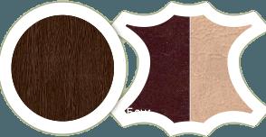 """Кухонный уголок """"Уют - 9"""" стол диванчик и табурет в комплекте - фото Венге шоколад беж"""