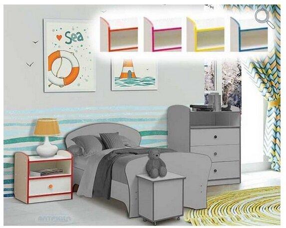 """Набор модульной мебели для детской комнаты """"Юниор-10"""" с кроватью - фото pic_1f8fad63389c7b2169c316ceb988205f_1920x9000_1.jpg"""
