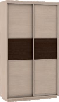 Шкаф купе Мини с дополнительными полками Фасады Венге - ДМ / 90х190х45 - фото Шкаф купе Дуб молоный с фасадами дуб молочный