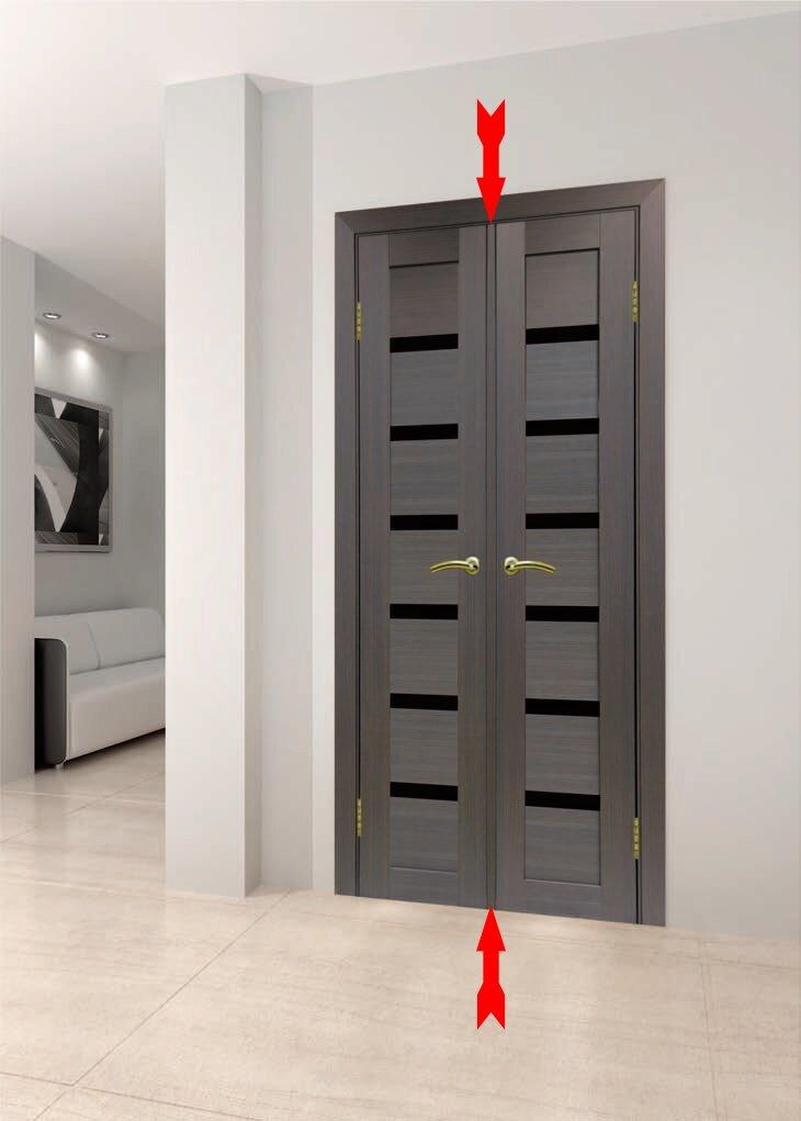 Притворная планка межкомнатной двери