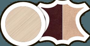 "Кухонный уголок ""Уют - 5"" стол диванчик и табурет в комплекте - фото Дуб молочный шоколад беж"