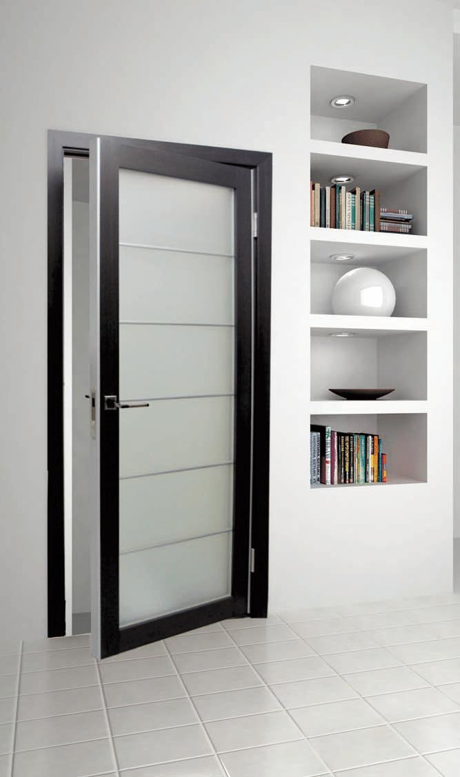 Дверь межкомнатная экошпон Турин 501.1 - фото Межкомнатная дверь с торцевым молдингом