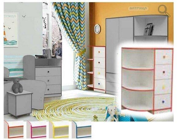 """Набор модульной мебели для детской комнаты """"Юниор-10"""" с кроватью - фото pic_7d0af1329a8574676ad113c3e7087573_1920x9000_1.jpg"""