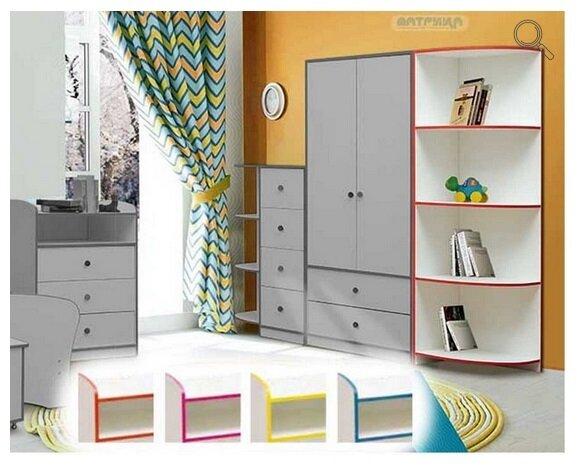 """Набор модульной мебели для детской комнаты """"Юниор-10"""" с кроватью - фото pic_f1a51a18a45226431ce372f9aa02efee_1920x9000_1.jpg"""