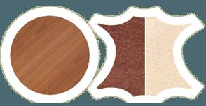 Набор обеденная группа - стол и 4 табурета Тип-1 - фото Ольха коричневый крем