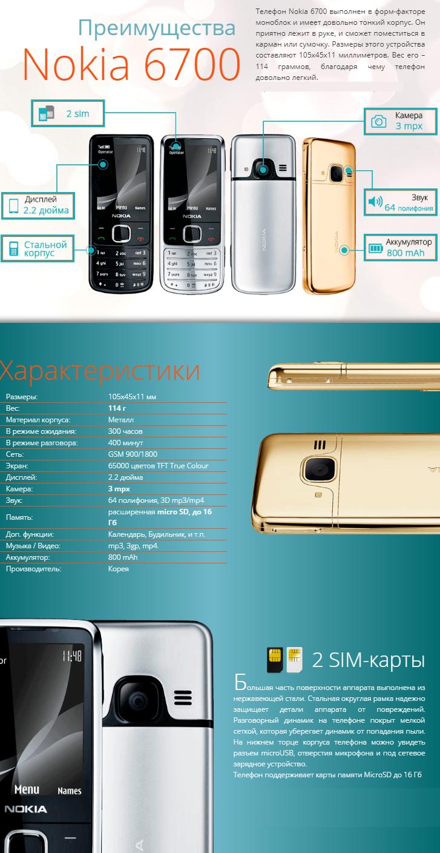 Nokia 6700 купить