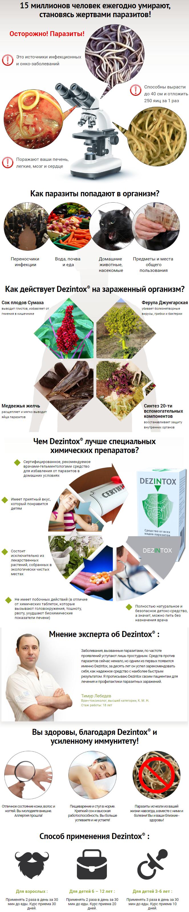Dezintox (Дезинтокс) препарат от паразитов купить