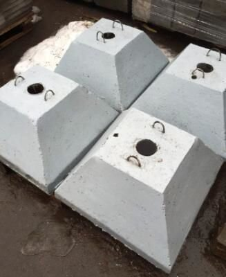 Фундамент под дорожный знак Ф 2