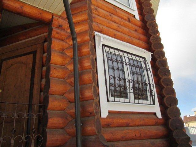 Шканты деревянные - фото дом из бревен собранный на деревянный шкант