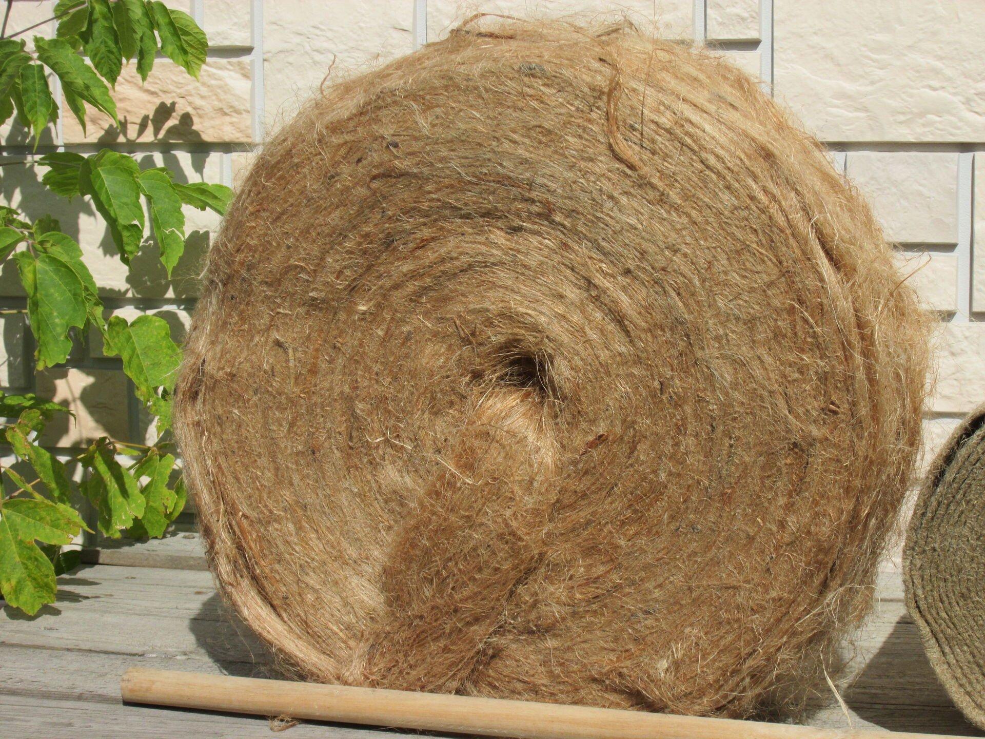 Пакля строительная - фото Пакля джутовая в ленте (рулоне)