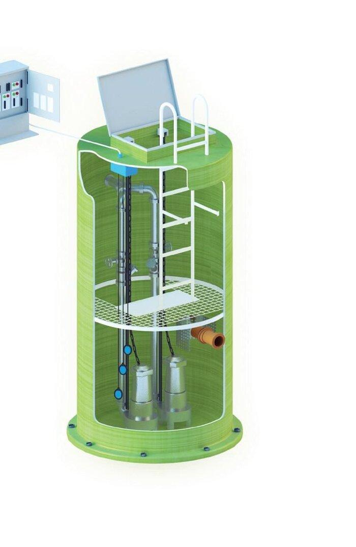 Канализационные насосные станции (КНС) - фото Канализационные насосные станции