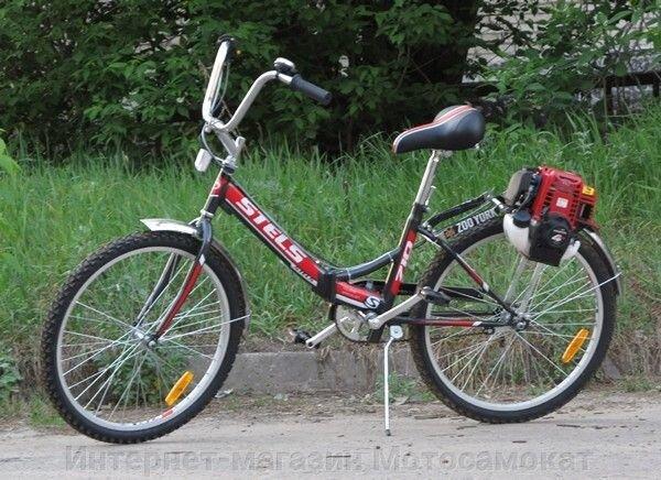 Мотор Honda-GX35 на велосипеде