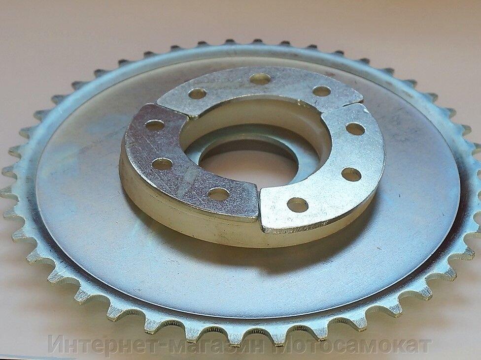 Задняя звезда с силиконовыми кольцами для крепления на колесо велосипеда.