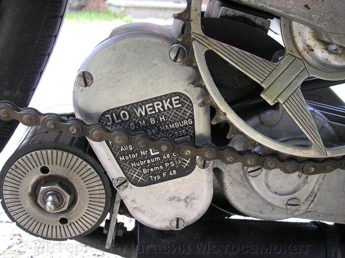 Фрикционный веломотор для велосипеда