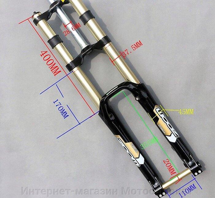 Геометрические размеры передней велосипедной вилки ZOOM 680DH