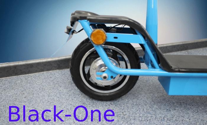 Электросамокат Black-One 2015, складной, с мотор-колесом, 36 вольт.