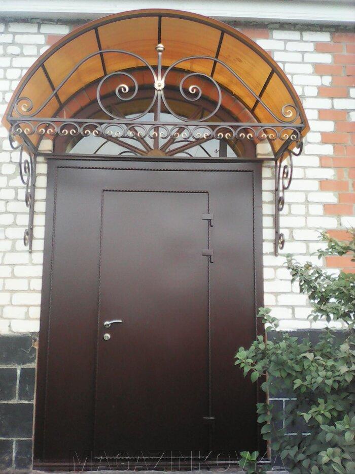 Теплые двери металлические кованые входные - фото Двери металлические