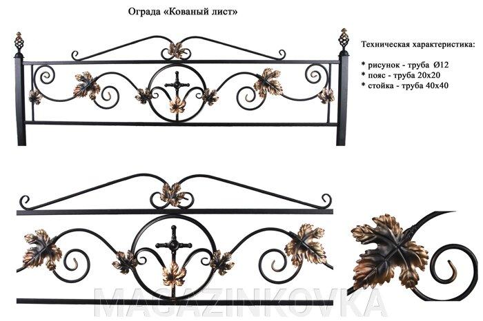 Кованные ритуальные ограды