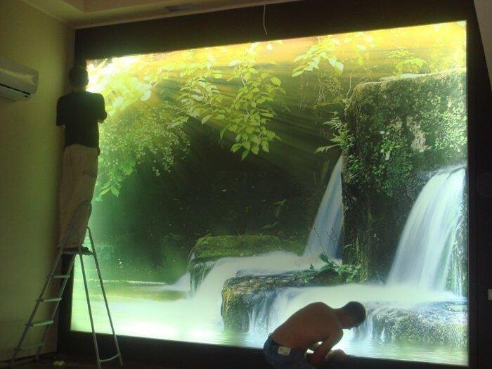 Фотопечать на Clipso с обратной подсветкой