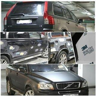 Оклейка авто винилом в цветную ПВХ пленку - фото 4