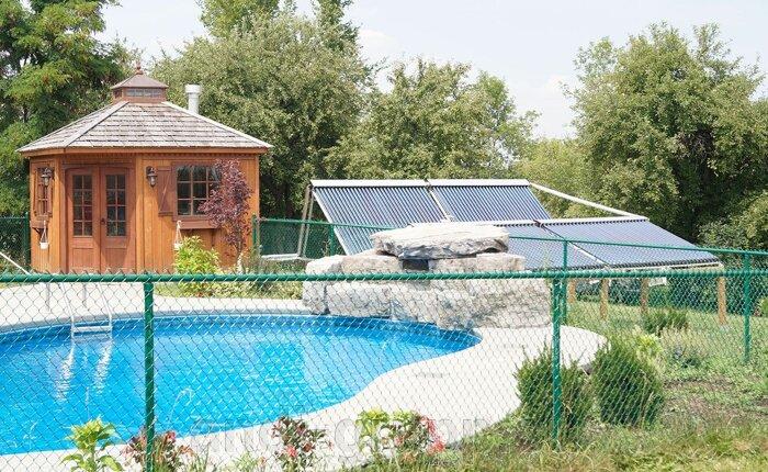 Нагреватель  для бассейна - фото солнечный коллектор ля бассейна