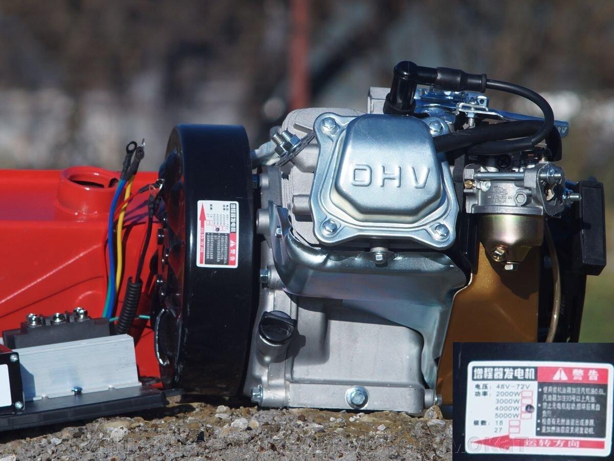 Бензиновый двигатель Honda GX270, генератор 48 вольт