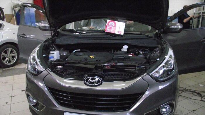 Автосигнализации с автозапуском - фото Автозапуск на Hyundai IX-35