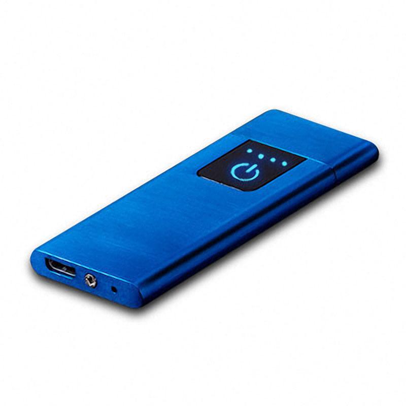 KCASA KC-MT10 Ультратонкий легкий отпечаток пальца Датчик USB аккумуляторная беспламенная зажигалка - фото 4